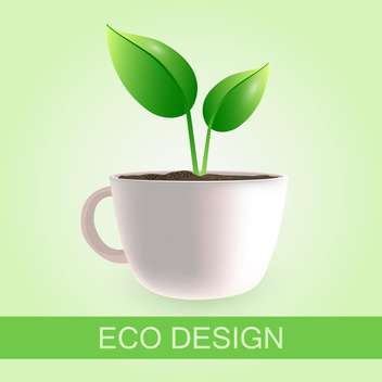 Original coffee cup eco design with place for text - Free vector #130012