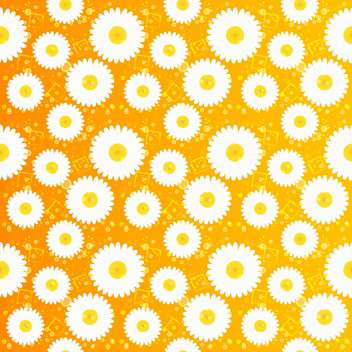 Spring floral seamless pattern with white chamomiles - vector #130062 gratis