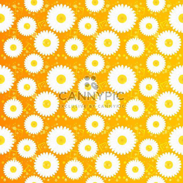 Spring floral seamless pattern with white chamomiles - Free vector #130062