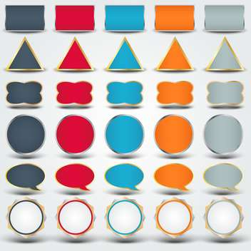 Vector colorful buttons of various shapes - Free vector #130132