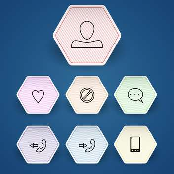 Media and communication vector icons set - vector gratuit #130152