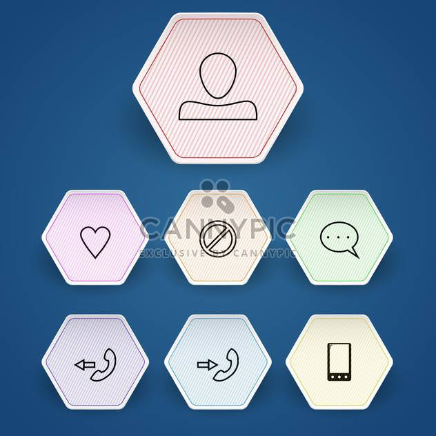 Media and communication vector icons set - Free vector #130152