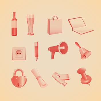 Vector illustration of household items - vector gratuit #130182