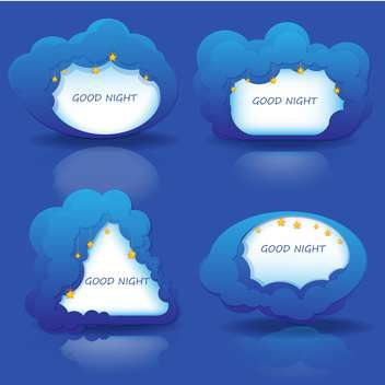 Vector set of frame good night - vector gratuit #130202