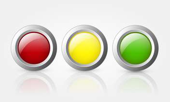colorful glossy buttons background - vector #130242 gratis