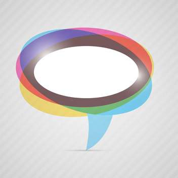 vector colorful speech bubble - vector gratuit #130282