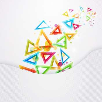 colored vector triangles background - vector gratuit #130292