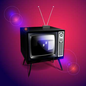 retro tv set vector illustration - Free vector #130312