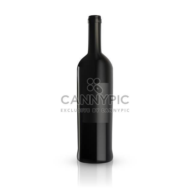 blank wine bottle vector illustration - Free vector #130332