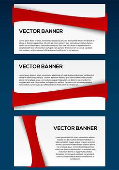 vector business banners set - vector gratuit #130352