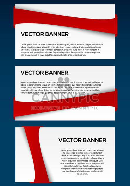 vector business banners set - Free vector #130352