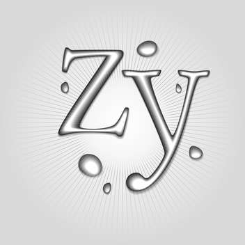Vector water letters Z, Y - Free vector #130372