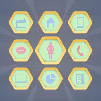 Set with vector web icons - vector #130382 gratis