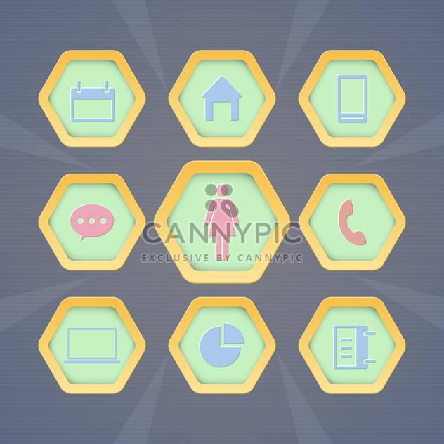 Set with vector web icons - Free vector #130382