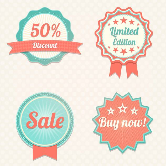 Set with sale vector labels - vector gratuit #130432