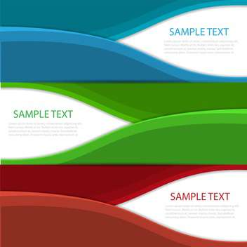 modern wave design banners background - бесплатный vector #130462