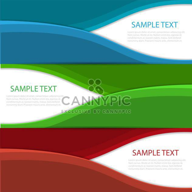 modern wave design banners background - Free vector #130462