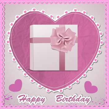 happy birthday card background - vector gratuit #130482