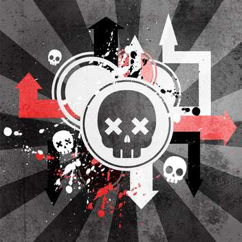 Abstract Scull Illustration - Free vector #130512
