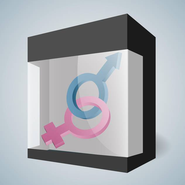 Vector male and female signs in box - vector #130522 gratis