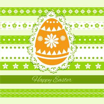 Happy Easter Greeting Card - vector gratuit #130562