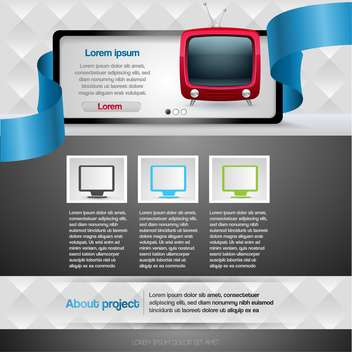 vector illustration of Website design template - vector gratuit #130592