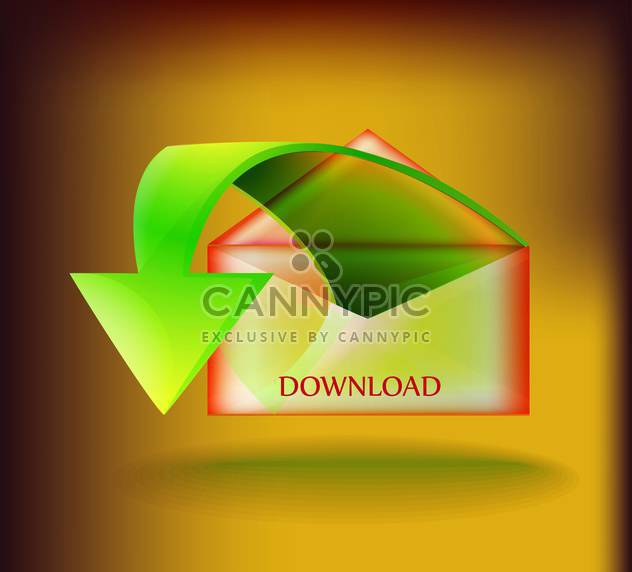 Vector download button on green background - Free vector #130702