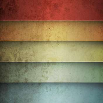 Rainbow horizontal lines vintage background - vector gratuit #130852
