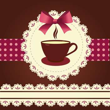 Vector card with coffee mug illustration - vector gratuit #130872