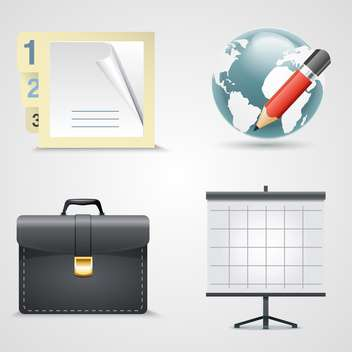 Vector set of business icons - Free vector #130892