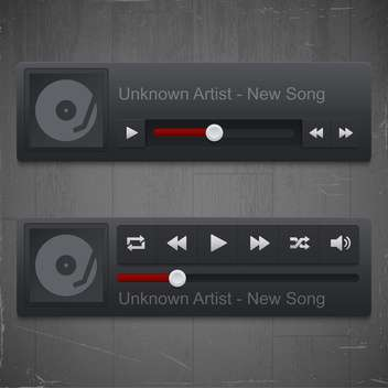 control panel of media player - vector #130962 gratis