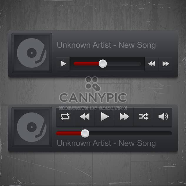 control panel of media player - Free vector #130962