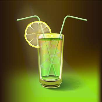 Lemon juice drink vector illustration - vector gratuit #130992