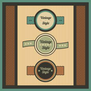 Vector collection of vintage and retro labels - vector #131002 gratis
