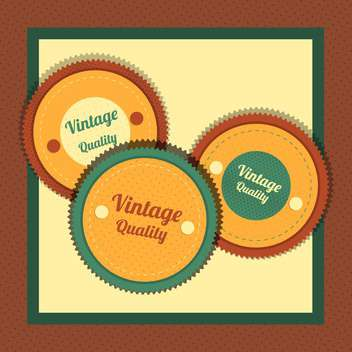 Vector collection of vintage and retro labels - Free vector #131012
