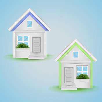 Vector illustration of house icons - Free vector #131112