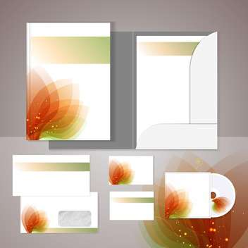 Set of templates for corporate identity - vector gratuit #131142