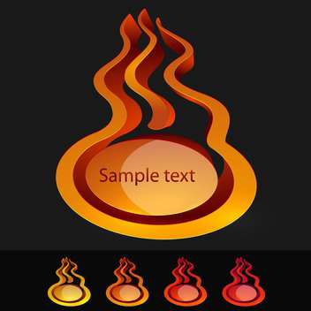 Fire icons vector set - Free vector #131182