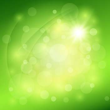 Sunny abstract green nature background - vector gratuit #131272