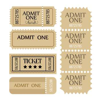 vector coupon and tickets set - vector #131372 gratis