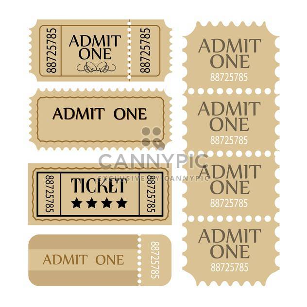 vector coupon and tickets set - Free vector #131372