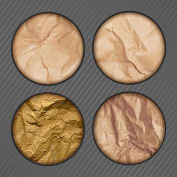 Texture of crumpled paper vector illustration - vector gratuit #131422