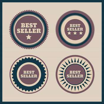 Collection of premium quality labels with retro vintage styled design - vector gratuit #131472