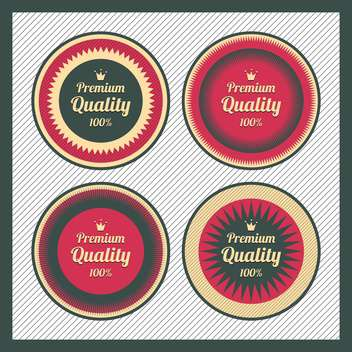 Collection of premium quality labels with retro vintage styled design - бесплатный vector #131502
