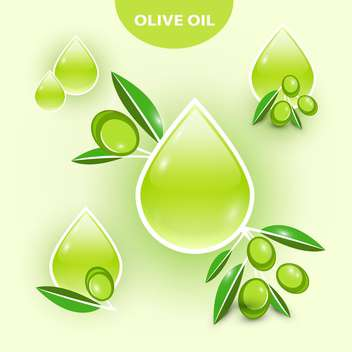 Icon of vector olive oil illustration - vector gratuit #131522