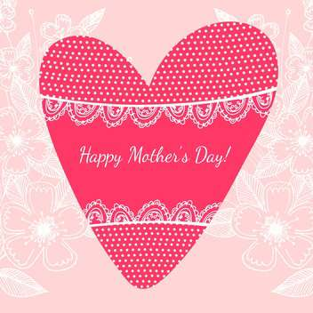 Happy mother day background vector illustration - vector gratuit #131542