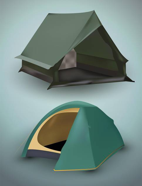 Vector illustration of tourist tents - vector #131712 gratis