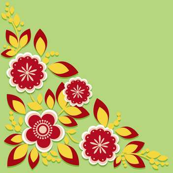 Greeting card with flowers vector illustration - Free vector #131722