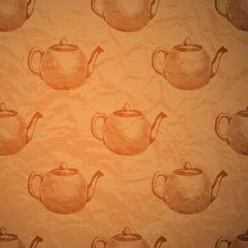 Vintage seamless background with kettles - vector #131782 gratis