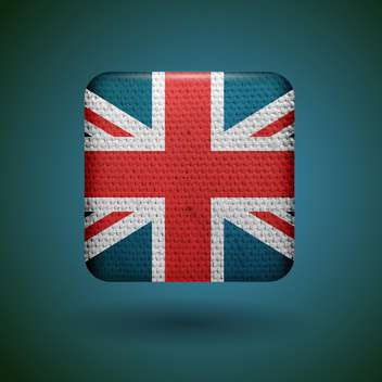 United Kingdom flag with fabric texture vector icon. - vector gratuit #131802